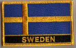 Sweden Embroidered Flag Patch, style 09.